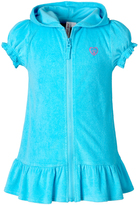Pink Platinum Turquoise Ruffle-Hem Cover-Up - Girls