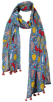 Fat Face Girls Woodland Square Scarf, Blue
