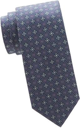 Brioni Woven Medallion Tie