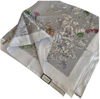 Gucci Silver Silk Scarves