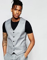 French Connection Check Waistcoat