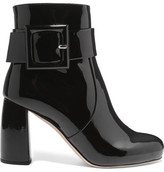 Miu Miu Patent-leather Ankle Boots - Black