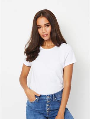 George White Crew Neck T-Shirt