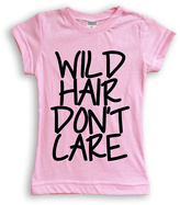 Urban Smalls Light Pink 'Wild Hair Don't Care' Fitted Tee - Toddler & Girls