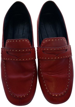 Isabel Marant Fezzy Red Leather Flats
