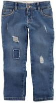 Carter's Girls 4-8 Distressed Loose-Fit Jeans