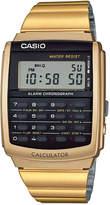 Casio Men's Digital Calculator Vintage Gold-Tone Stainless Steel Bracelet Watch 35x35mm CA506G-9AVT