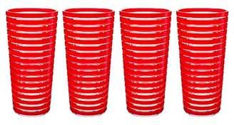Zak Designs 11.5oz 4pk Plastic Highball Tumblers Red