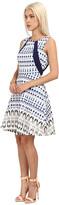 Rachel Roy Print Flare Dress