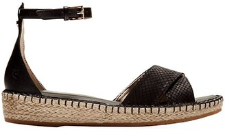 Cole Haan CloudFeel Lizard-Embossed Leather Espadrille Sandals
