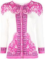 Versace arabesque print cardigan - women - Silk/Spandex/Elastane - 40