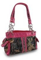 Things2Die4 Forest Camouflage Purse w/Rhinestone Stripe and Glossy Vinyl Trim
