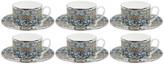 Roberto Cavalli Platinum Palazzo Pitti Tea Cups & Saucers