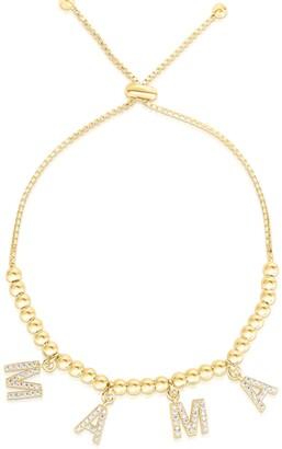 Sphera Milano 14K Gold Vermeil CZ Mama Charm Bracelet