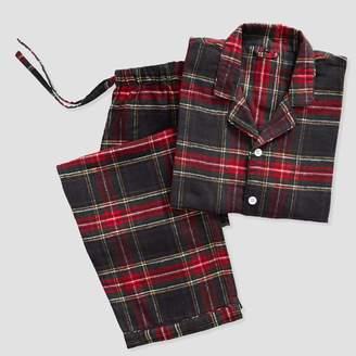 Pottery Barn Teen Tartan Plaid Organic Flannel Pajama Set