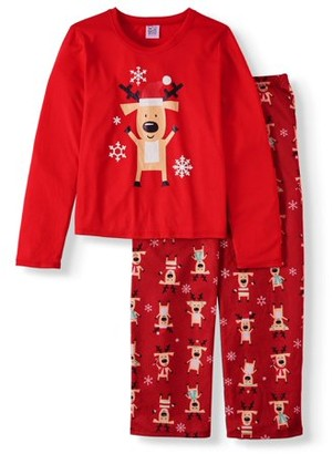 Toast & Jammies Matching Family Christmas Pajamas Youth Unisex Buffalo Footless Union Suit (Little Boys and Big Boys)