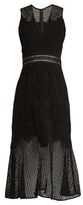 Jonathan Simkhai Fluted-hem sleeveless lace dress