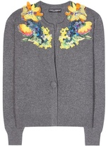 Dolce & Gabbana Cashmere Cardigan With Appliqué