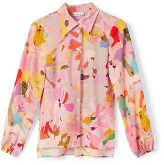 Phoebe Grace Nancy Long Sleeve Shirt In Camo Print