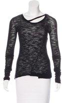 Kimberly Ovitz Wool Cutout-Accented Sweater