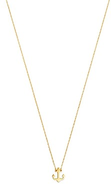 Moon & Meadow Anchor Pendant Necklace in 14K Yellow Gold, 17 - 100% Exclusive