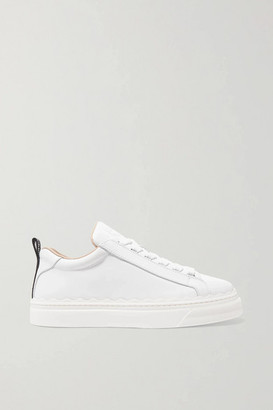 Chloé Lauren Scalloped Leather Sneakers - White