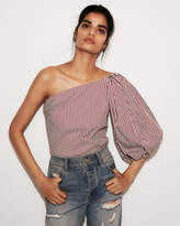express-striped-one-shoulder-blouse