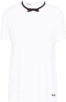 Miu Miu tie neck T-shirt