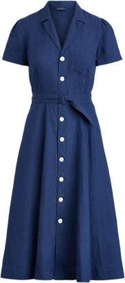 Ralph Lauren Belted Linen Dress