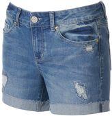 Juniors' SO® Ripped Midi Jean Shorts