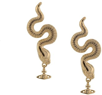 Vivienne Westwood Avalon snake stud earrings