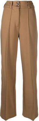 Societe Anonyme High-Waisted Wide Leg Trousers