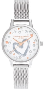 Olivia Burton Women's Stainless Steel Mesh Bracelet Watch 30mm