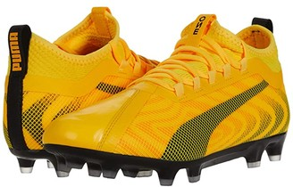 Puma One 20.2 FG/AG (Ultra Yellow Black/Orange Alert) Men's Soccer Shoes