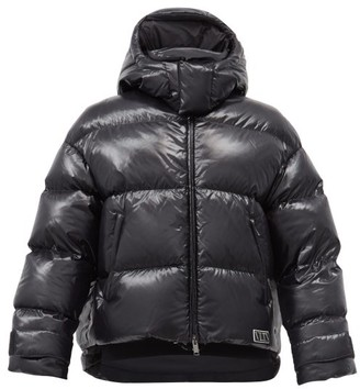 Valentino Hooded Padded Quilted-shell Coat - Black