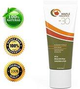 Natural Sunscreen with SPF 30 - Block Sun UVA + UVB Broad Spectrum - Sweat & Water Resistant - Safe for Sensitive Skin - Sunblock Face + Body Lotion - Aloe Vera Fragrance Free - for Women & Men