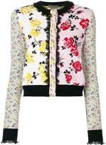 Alexander McQueen floral patchwork jacquard jacket