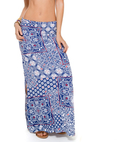 Luli Fama Brunchin Skirt In Multicolor (L512667)