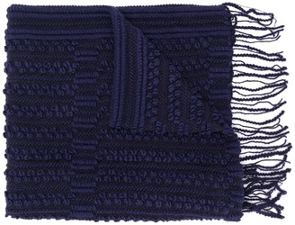 Giorgio Armani Pre Owned 1990's Knitted Fringed Scarf