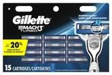 Gillette Mach3 Turbo Cartridges - 15ct