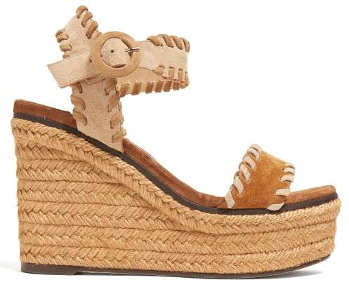 Jimmy Choo Abigail 100 Espadrille Wedge Sandals - Womens - Tan
