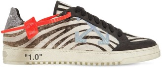 Off-White 20mm Arrow Zebra Ponyskin Sneakers