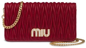 Miu Miu Matelasse Mini Clutch Bag