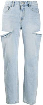 Sjyp Side-Slash Boyfriend Jeans