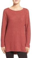 Eileen Fisher Women's Lightweight Organic Linen Knit Bateau Neck Sweater