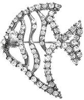 AJ Fashion Jewellery ANGEL Plated Crystal Fish Brooch