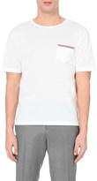 Thom Browne Striped-pocket cotton-piqué t-shirt