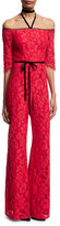 Alexis RED LACE JOAQUIN JUMPSUIT