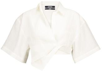 Jacquemus La Chemise Capri linen wrap shirt