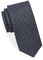 Black Brown 1826 Medallion Patterned Silk Tie